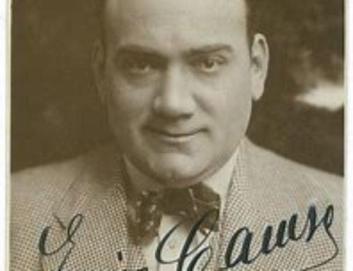 2 août 1921 : Entendre Caruso et mourir.