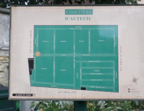 50 célébrités du cimetière d'Auteuil.