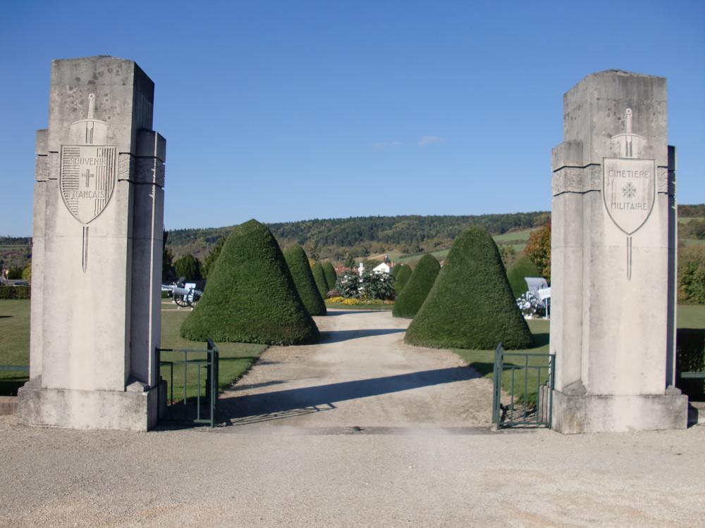 Entrée du cimetière militaire du Faubourg Pavé à Verdun