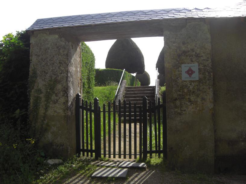 L entrée du sanctuaire