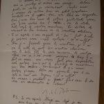 Lettre de Michel Polac